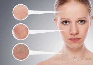 Определение типа кожи на разный частях тела