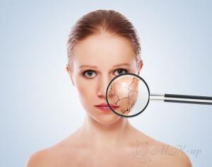 Визуальное определение типа кожи